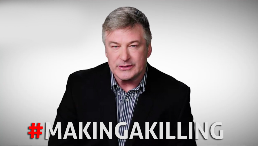 Alec Baldwin urges you to host a home screening of MAKING A KILLING: GUNS, GREED AND THE NRA