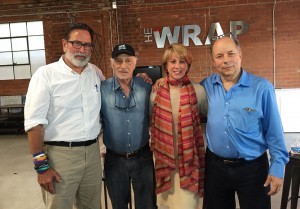 (L-R) Richard Martinez, Bill Benenson, Sharon Waxman , Robert Greenwald